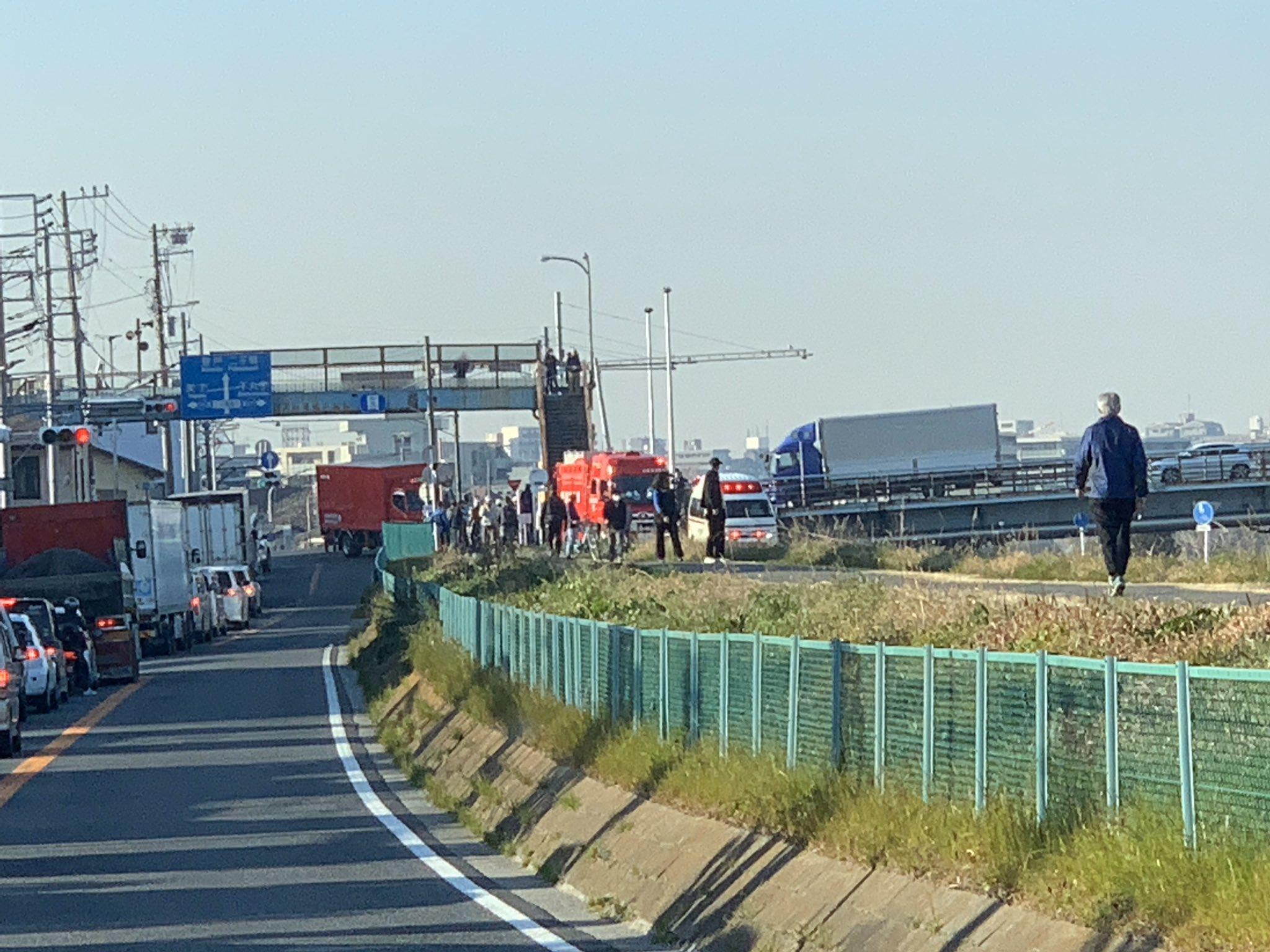 大田区のガス橋で飛び降り自殺があった現場の画像