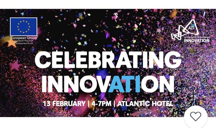 Congratulations to the ten finalists at @ATI_Cornwall Celebrating Innovation Showcase at @AtlanticHotel_ this evening.   Wishing you all a wonderful evening. @TriangularPixel @Ultramed_LTD @OdysseyInnovate @BigBeanBagUK @dynamicedgeinc @onlinebookco @hi9iopic.twitter.com/Fbx6fbZvMl