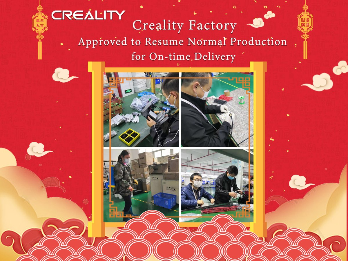 Company News| Creality Factory Approved to Resume Normal Production for On-time Delivery