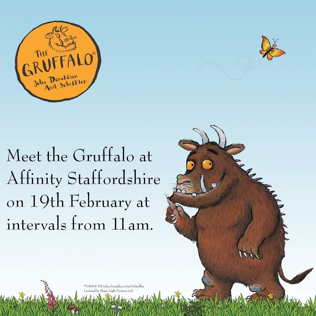 Grab your coat as we're going on an adventure to meet the Gruffalo on the 19th February.   Visit the legendary character at intervals from 11am! For more details, visit our website: https://t.co/tES8CdCOXg. https://t.co/Yg83zC3RIy