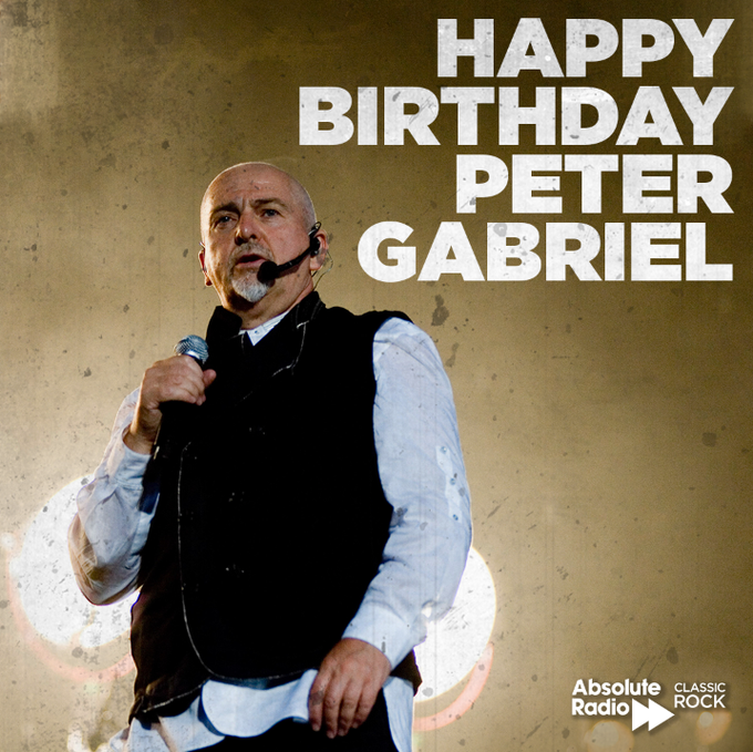 Happy birthday to Peter Gabriel! The former Genesis man turns 70 today!