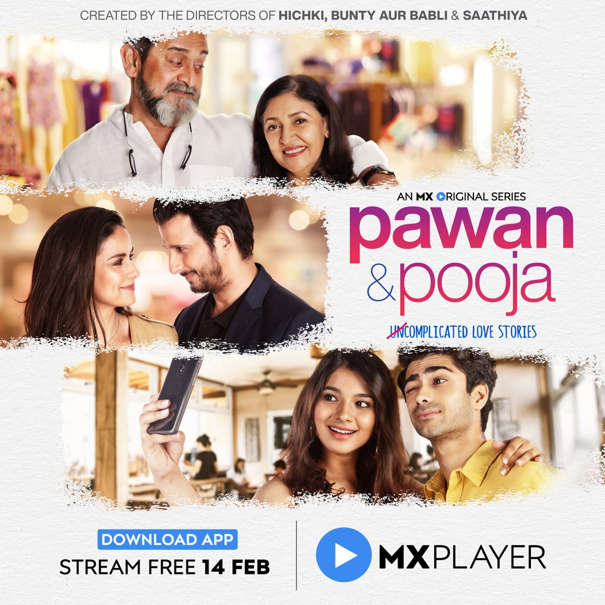 #ContestAlert:  When is the series Pawan & Pooja releasing on? A) 14th February   B) 15th February   Win free Amazon vouchers for Pawan & Pooja. #Glamsham #PawanAndPooja #MXOriginalSeries @TheSharmanJoshi @mxplayer Rules: Follow http://glamsham.com T&C apply