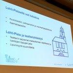 Image for the Tweet beginning: Monitoimitalon #käyttäjäryhmä'ssä esiteltiin Lahti-Pisteen ja
