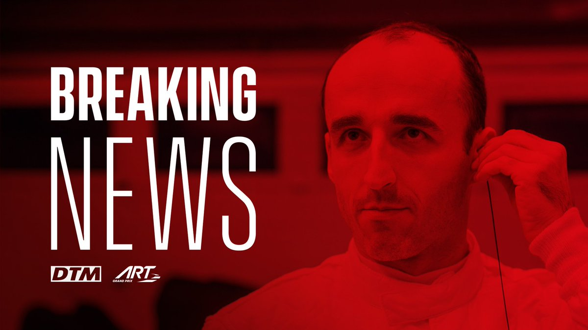 🚨 𝗕𝗿𝗲𝗮𝗸𝗶𝗻𝗴 𝗡𝗲𝘄𝘀 🚨  ART Grand Prix and @R_Kubica join forces in the 2020 @DTM - https://bit.ly/2SFnJXN  @BMWMotorsport