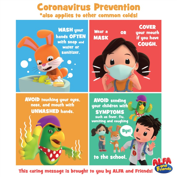 Prevention Is Better Than Cure.  ALFA and Friends would like to remind everyone to always take good care of ourselves and our community. Remember to always maintain good personal hygiene. Follow these simple steps to prevent the spread of #coronavirus.  #ALFAandFriends https://t.co/MDt8AK7CML