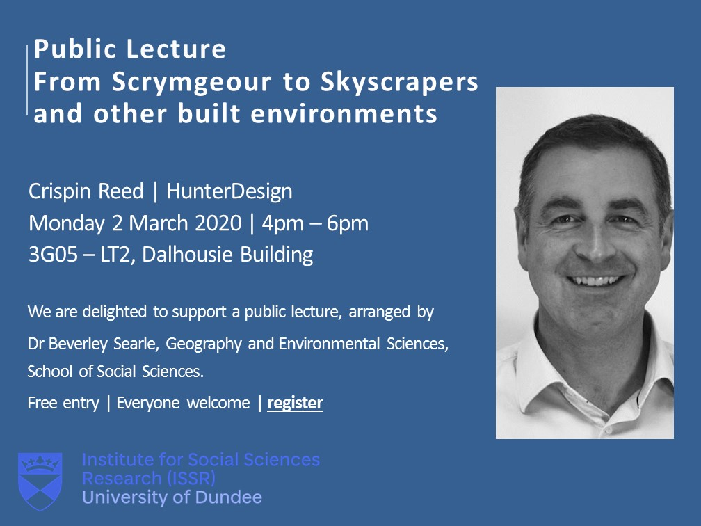 Mon 2 Mar | Public Lecture The event is hosted by Dr Beverley Searle @bas4s    Alumni @crispinreed, will speak about 'From Scrymgeour to Skycrapers and other built environments'.  @dundeeuni @UoDOpenResearch @UoD_Researchers  All are welcome! ➡️https://t.co/8si6eIMUJg https://t.co/z26EfTai7d