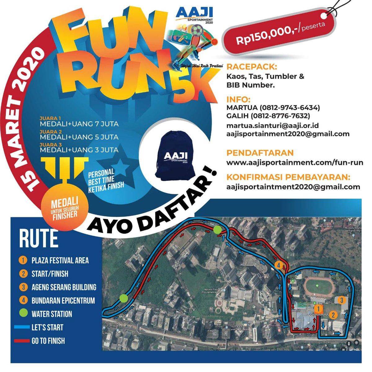 AAJI Sportainment - Fun Run • 2020