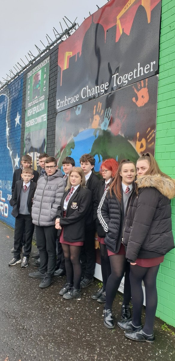 OCN Wellbeing class developing their knowledge of prejudice and discrimination. Visiting various murals in Belfast.