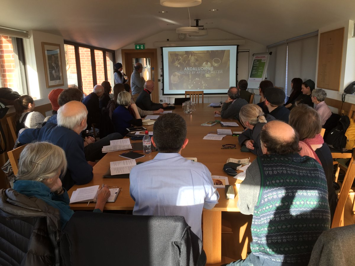 Yesterday, the @Woolf_Institute in collaboration with OCHJS hosted the #Music Research Afternoon: The Marvellous Art of In Between: Music in #Jewish, #Christian and #Muslim #Encounters. Convened by Executive Director Dr @DrEMWagner and Dr Diana Matut @UniofOxford.