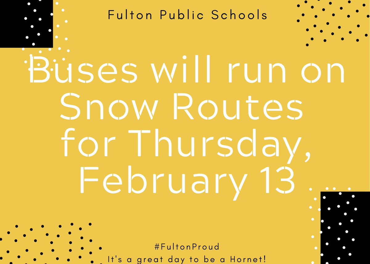 Be safe! #FultonProud