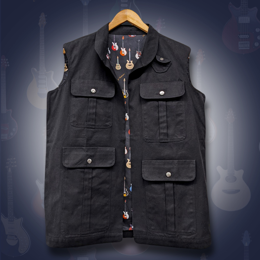 Brian May Guitar Hold Everything Reversible Waistcoat Now in the QOL Shop! 🎸 More here: 👉 queenonlinestore.com/Brian-May/Merc… @DrBrianMay