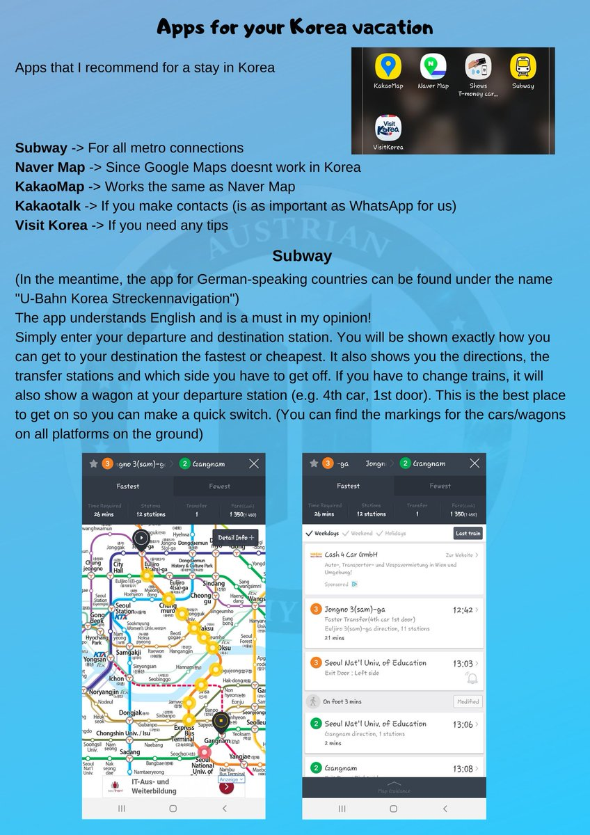 This may also be a helpful topic for you. Apps I use in Korea!  [ #visitkorea #visitseoul #southkorea ]pic.twitter.com/PUBJnAbqFH
