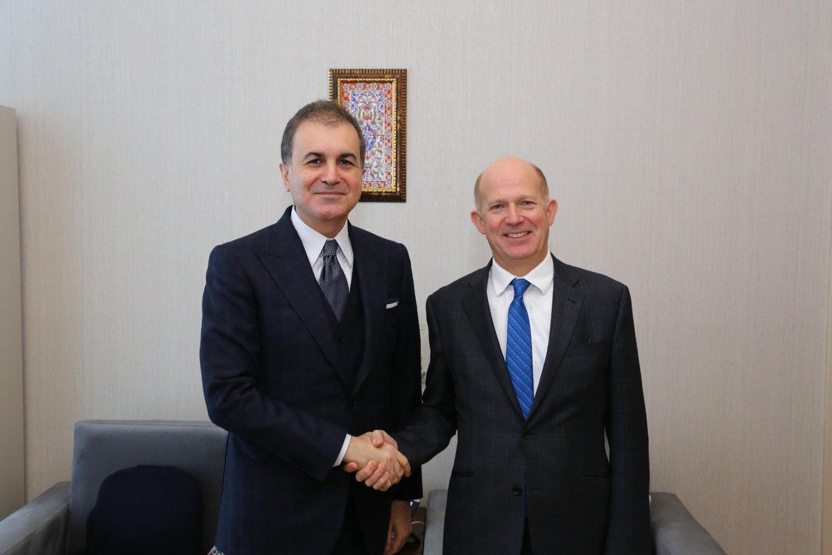 We met with the British Ambassador to Ankara Sir @DChilcottFCO. We talked about our bilateral relations and the latest developments in Syria and Libya, and in our region. @UKinTurkey<br>http://pic.twitter.com/2RskM8G9zK