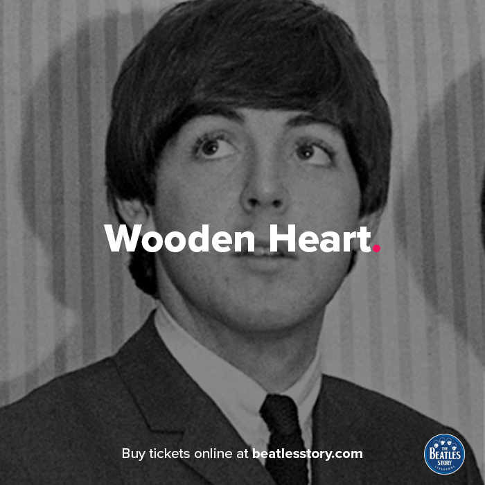 💗@Thebeatles performed a special #ValentinesDay show in Liverpool #OnThisDay in 1961.@PaulMcCartney wore a red satin heart, embroidered with the names 'John, Paul, George and Pete' on his coat while performing the @ElvisPresley hit 'Wooden Heart.' 🎵