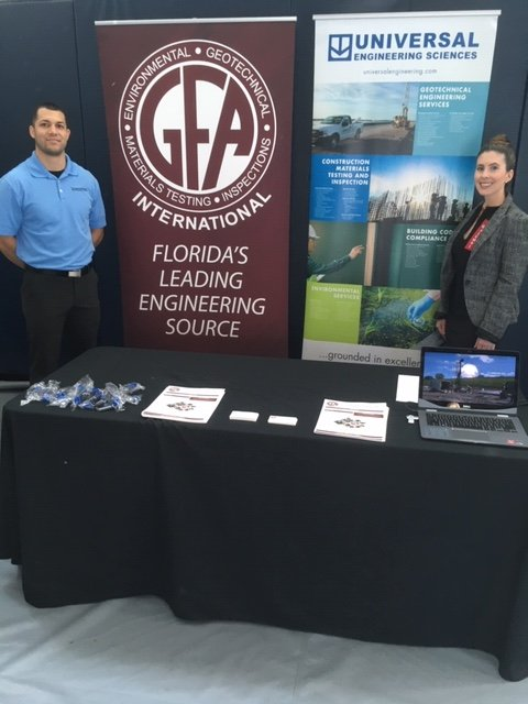 GFA International, Inc. is attending FAU Career Center's Career Expo today at the Recreation and Fitness Center on the Boca Raton, Florida campus.  Stop by and see us! #teamGFA #FAU #GFA #UES #NewCareer #EngineeringCareers pic.twitter.com/OL8uQMsJiD