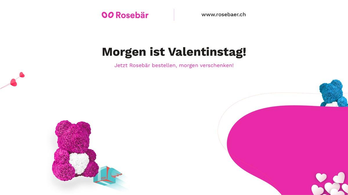 Morgen ist Valentinstag