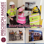 A while back we produced a bunch of these construction images for a new affordable housing apartment building. These #AcrylicPhotoPrints give tenants a look at all the people, hard work, and love that went into building their home. #PhotoPrints #art #acrylicart #PrecisionImages
