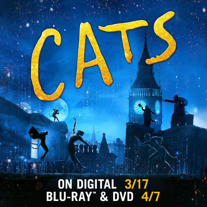 Meow! Sing and dance with the all-star castof #CatsMovie: James Corden, Judi Dench, Jason Derulo, Idris Elba Jennifer Hudson, Ian McKellen, Taylor Swift, Rebel Wilson and introducing Francesca Hayward. Own Cats on Digital 3/17 and Blu-ray 4/7 uni.pictures/Cats