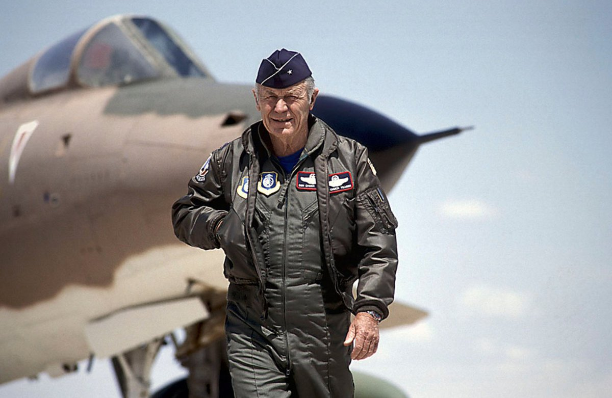 @WestWingReport's photo on Chuck Yeager