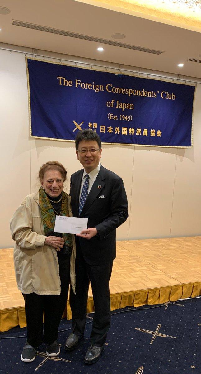 海外のメディア関係者の皆さんに熊本市のプレゼンをさせて頂きました。皆さんからは「非常にわかりやすいプレゼンだった。熊本に是非行きたい」と懇親会で沢山の声を掛けていただきました。そして私も日本外国特派員協会の名誉会員になりました。今後も海外メディアの皆さんに積極的に発信します!