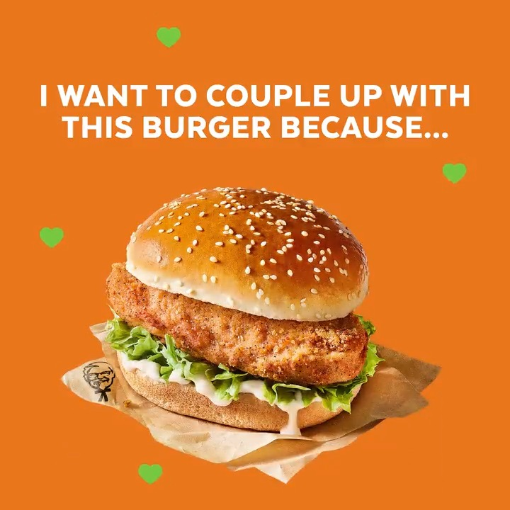 Love at first bite…❤️💚 #ValentinesDay #KFC #Quorn