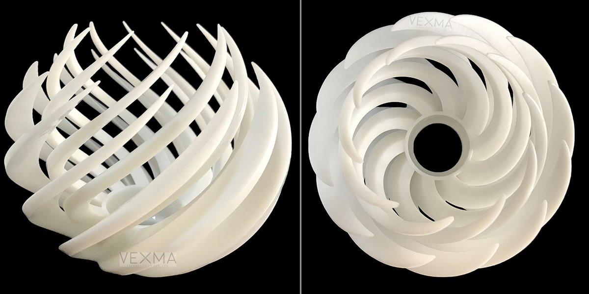 At Vexma, we help you convert your ideas to prototype. A perfect ways to shape your concept while empowering your vision with our SLA 3d printing.  #3dprinted #lamp #sla #lampshade #3dprintedlamp #3dprinting #sla3d #lampdesign #homedecore #tech #additivemanufacturing #vexmatech