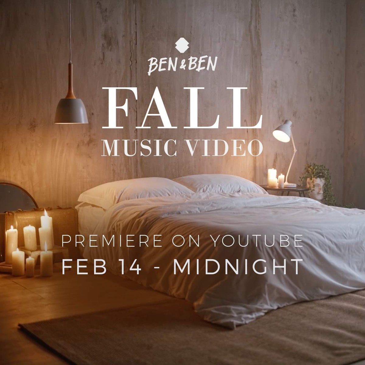 SURPRISE we're dropping the Official Music Video of 'Fall' later at midnight, mga beh. watch out #BenAndBenFallMV
