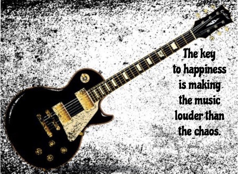 And my chaos screams loud! And music, well music and guitars calm it every time. One of life's sure bets. https://t.co/mYco7ZFxo1