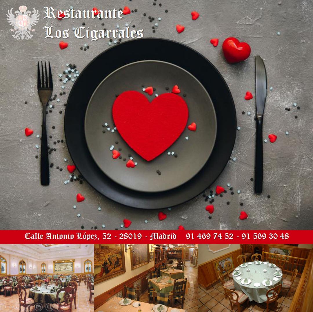 ¿Todavía no tienes planificada la cena para este San Valentín? ¡Reserva tu mesa y enamorarás!   #DóndeComer #DóndeCenar #SanValentín #EnMadrid #Madrid #Restaurante #LosCigarrales #ZonaMadridRio #CalleAntonioLópez