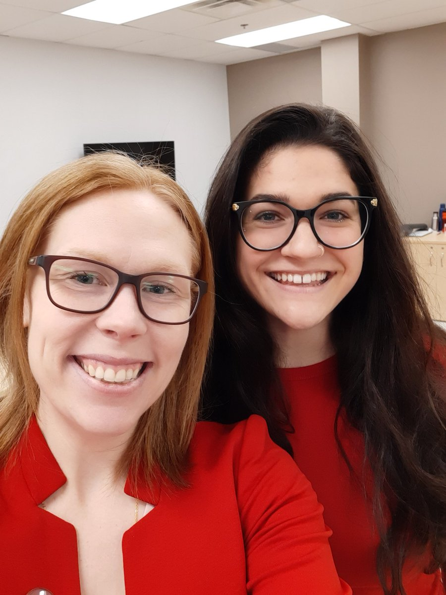 Classmate @juliafshaw is wearing RED👇 #WearRedCanada #HerHeartMatters