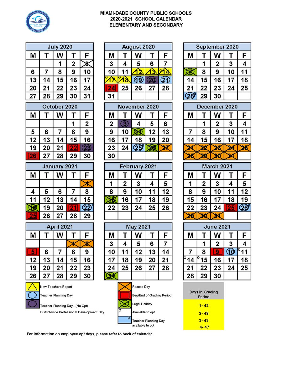 Attention parents! The @MDCPS School Board approved the 2020-21 school calendars with a start date of August 24 for students. For more information, visit http://www.dadeschools.net/calendars .   http://news.dadeschools.net/cmnc/new/29389