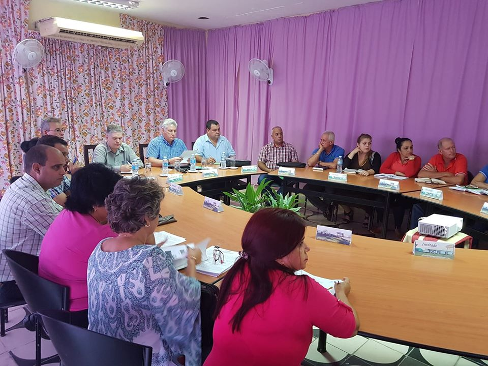 President of Cuba leads government visit to Cienfuegos