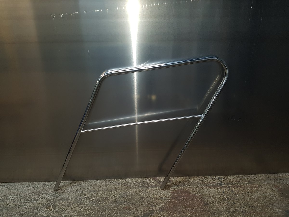 A simple job creating a step handrail for a local caravan company in Poole, Dorset. A easy days work compared to the work we do on lifeboats, super yachts, commercial yachts, commercial ferries, cruise ships and Royal Navy warships #welding #fabricators #automotiveengineering pic.twitter.com/akf2gcLqOO