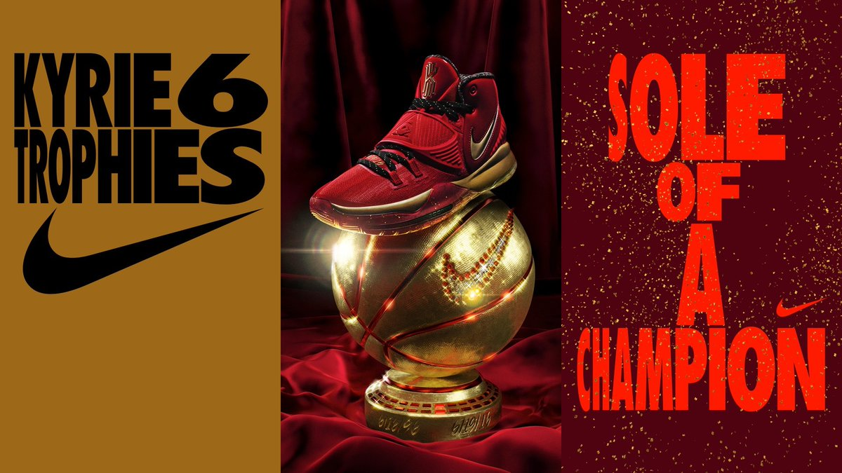 In 1996, one of the greatest players of all time won an NBA title on Father's Day in Chicago. @KyrieIrving followed suit 20 years later. The Kyrie 6 'Trophies' represents their love for their fathers and the game.Arriving February 14 🇺🇸: https://smart.link/5e41b247d0a2d  #NBAAllStar