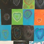 Image for the Tweet beginning: Creating hearts using chalk and