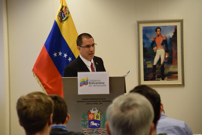 Jorge Arreaza denounced the United States to the International Criminal Court.