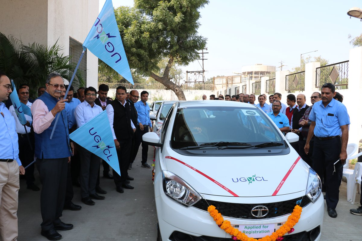 Gujarat govt to come out with policy for e-vehicles; GUVNL inducts 5 e-cars