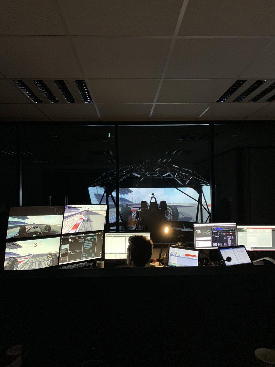 Simulator 🏎 @AOTech_Sim @ARTGP #sim #simulator #preparation #bahrain