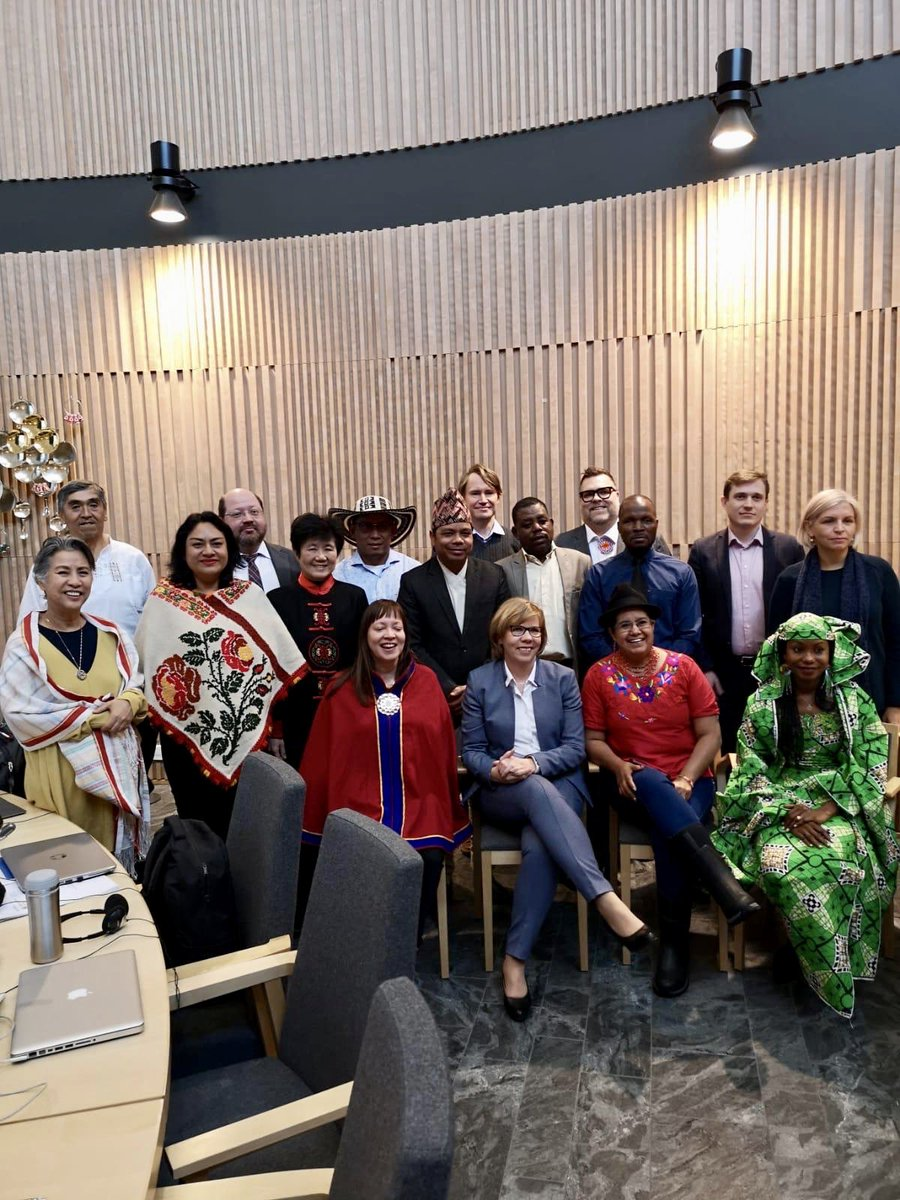 UN permanent forum on indigenous issues is holding its preparatory session in Finland this week. Today I discussed how the Finnish government is going to improve the rights of the Sami people #weareindigenous #UNPFII @hindououmar @LourdesTiban @DMejia20 @ANuorgam @geoffreyrothdc