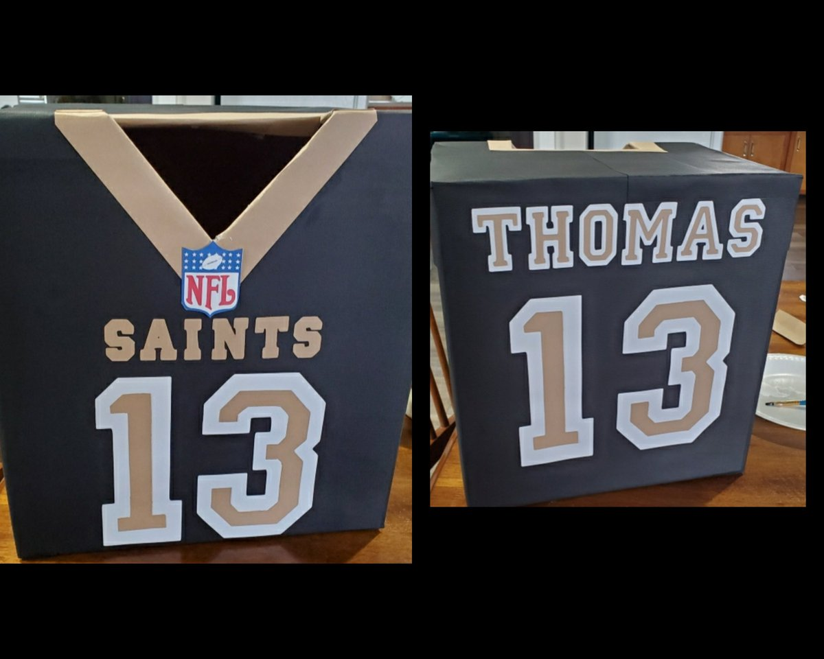 My nephews Valentines day box #whodat @Saints @Cantguardmike