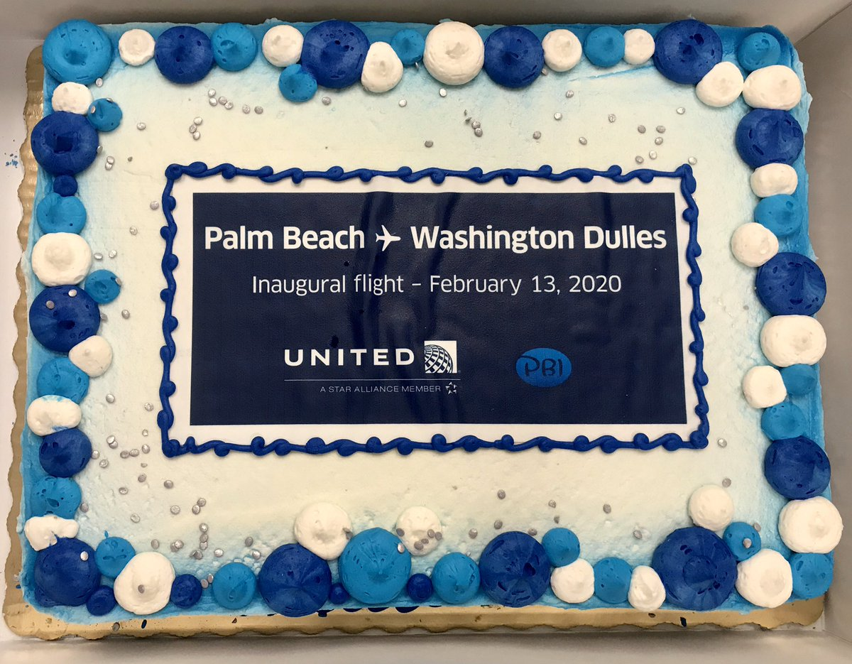 @Publix, Please pass along our sincere thanks to the cake lady, Mela at Publix Super Market, Village Commons/WPB. A true professional, helping us celebrate our inaugural service from PBI to IAD/Washington by putting the icing on a delicious and great looking cake.