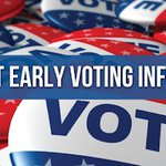 Image for the Tweet beginning: PRESS RELEASE:  Early Voting for
