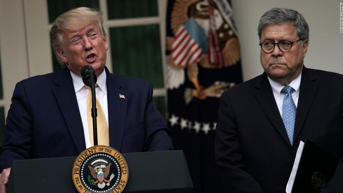 NEW: Attorney General William Barr said President Trumps tweets about Justice Department cases make it impossible for me to do my job  https://cnn.it/2Hl2VPR