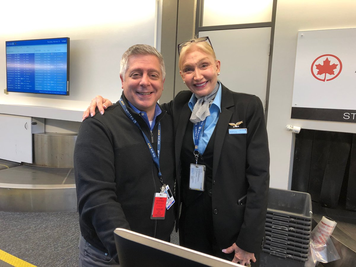 Caring for our employees and our customers, M.D. Lou Farinaccio and C.S.R. Beverly Kemerer sharing their love for what they do at United. @weareunited
