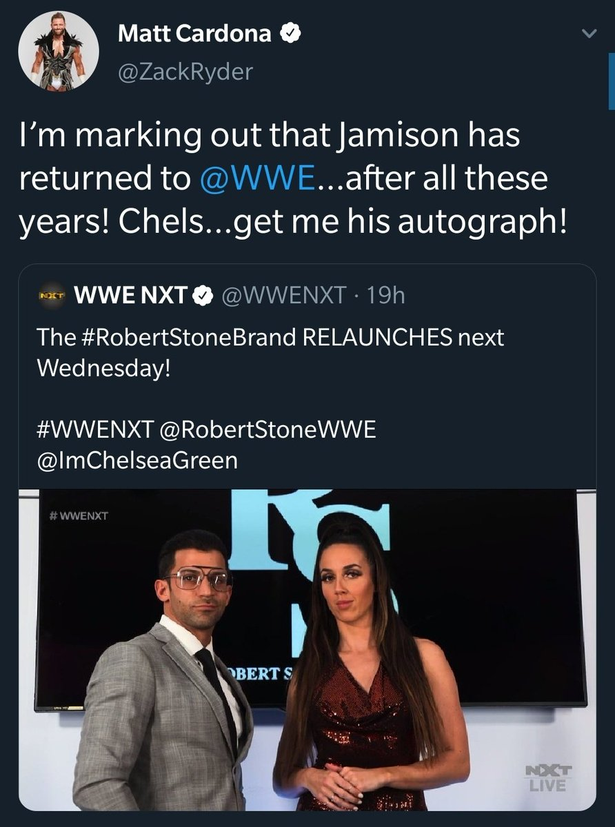 Zack Ryder is right, Jamison is back 😂