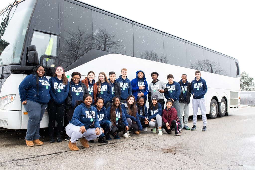 As part of @KingJames selection to @NBAAllStar, he sends all 23 of his 330 Ambassadors to the host city for a weekend of service & career exploration. It's important to leave a place better than you found it & these HS students will do just that.  Chicago, here they come! ⭐️