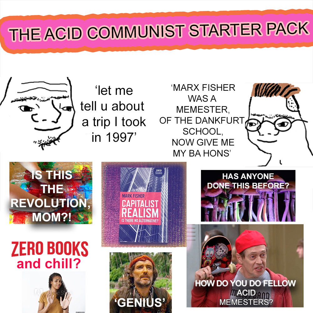 ACID COMMUNIST STARTER PACK, because he/she who laughs at themself laughs longest and hardest... #starterpackmemes #starterpack #leftistmemes #leftmemes #leftcom #leftcanmeme #starterkit #acidcommunism #acidcorbynism #acidcommunistmemes #dankmemes #dankleftmemespic.twitter.com/IXJ01Tp18Y