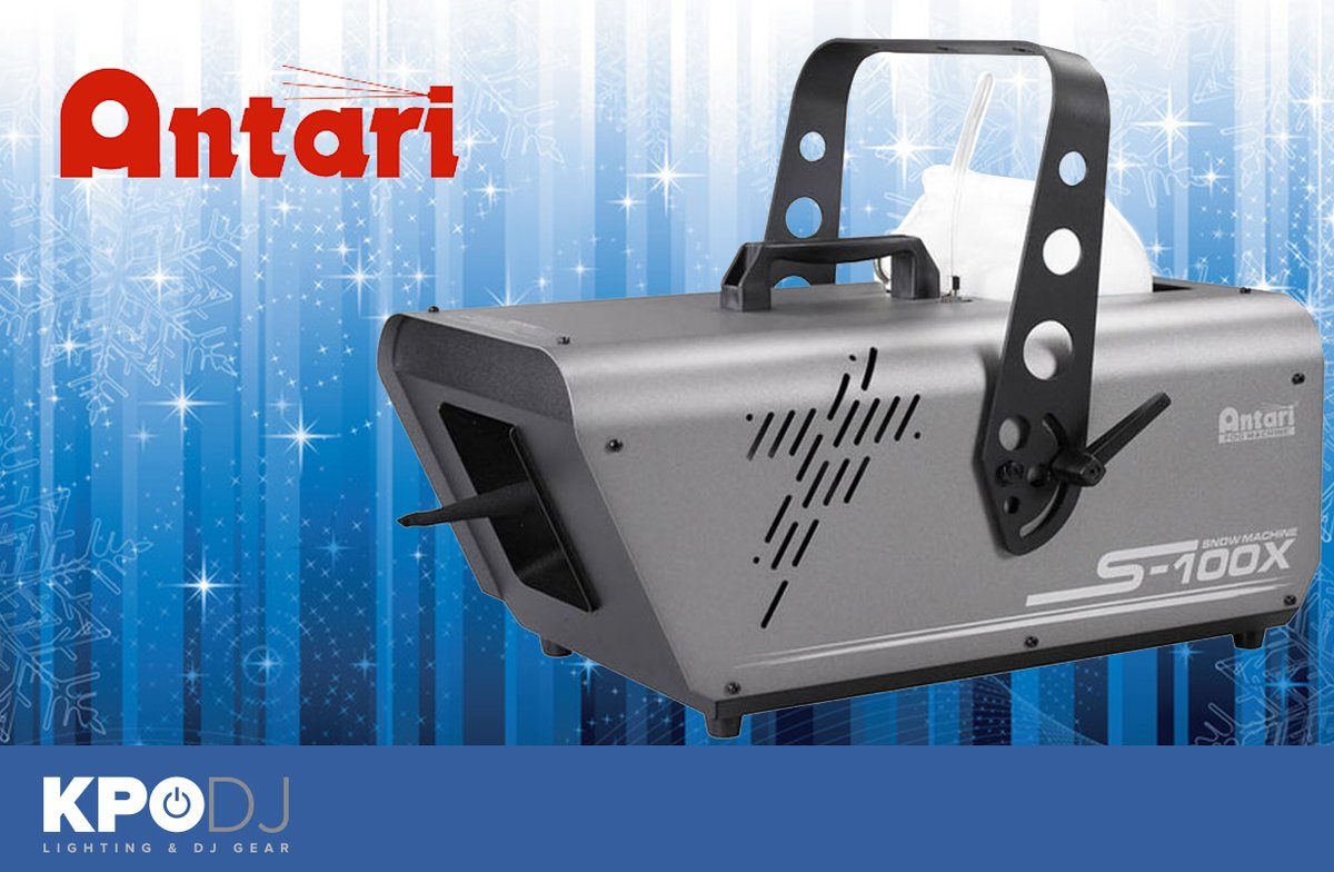 The Antari SW-300 Snow Machine is the perfect special effect to give your clients that VIP service.  - Easy to operate - Adjustable output - fine snowflake to a heavy blizzard effect.  http://bit.ly/37moNVO  #KPODJ #KPODJVIP #djgear #snowmachine #specialFXpic.twitter.com/R83fPGMKNG