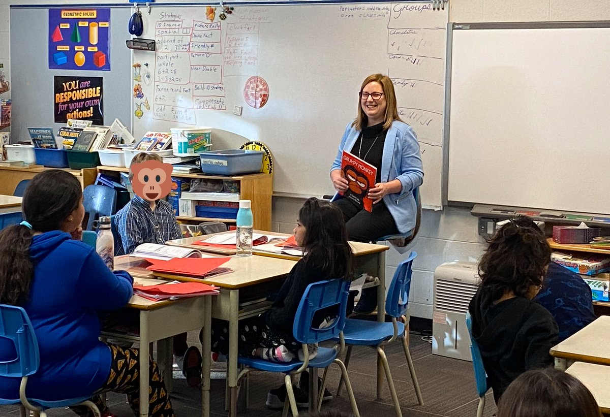 test Twitter Media - A fun start to the day with the Grade 4H class at @Bairdmore_Books for #ilovetoread month!  'Grumpy Monkey' by Suzanne Lang has a great message about how we deal with emotions and feelings.  Thank you to the students & staff who gave a warm welcome on a frigid day! #mbpoli https://t.co/ry0tlZ1CuZ