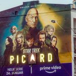 Image for the Tweet beginning: worked lately on #StarTrekPicard mural.